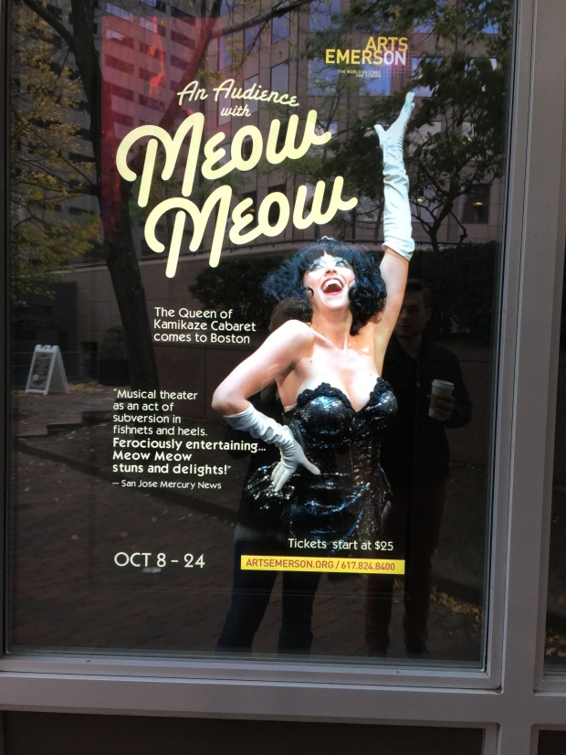 Sounds like our kind of show. Meow! Note Nick's reflection in the glass. Hah!