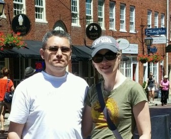 Dave and I in Newburyport, MA