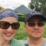 Selfie with volcano