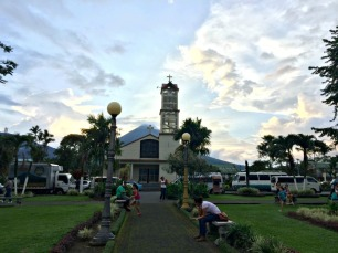 St. John Bosco with Arenal behind it