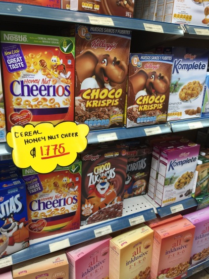 Familiar cereals... sort of