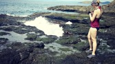 Exploring the tidal pools and splashy things
