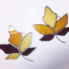 Our finished leaves.